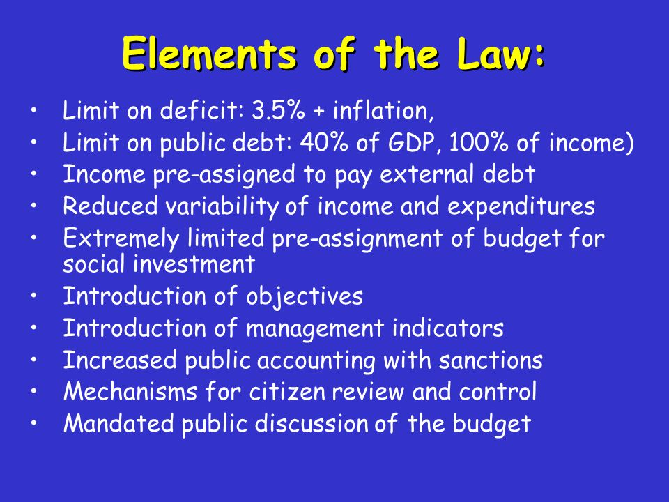 Investment is used as the variable of adjustment Public investment is the variable of adjustment under the fiscal restrictions, given the inflexibility of the budget.