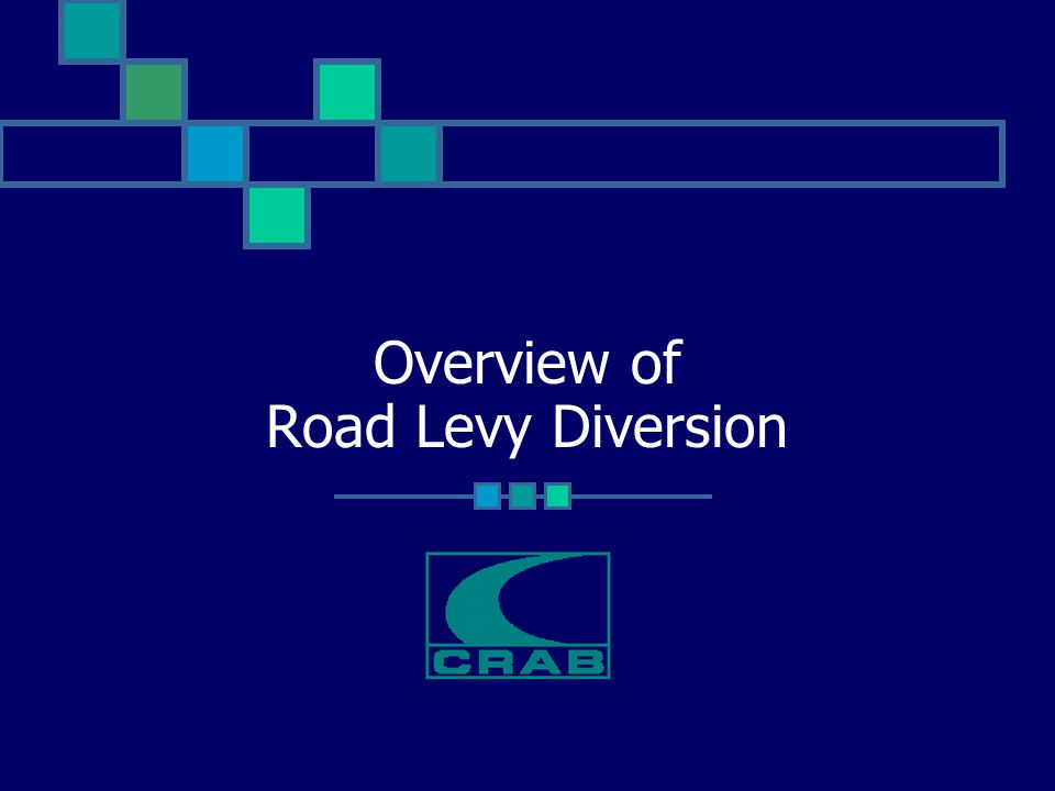 Overview of Road Levy Diversion