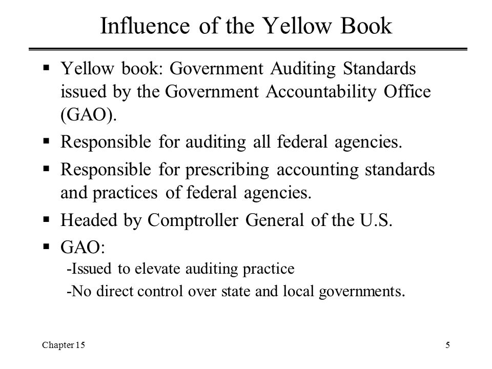 Chapter 1516 Single Audit Act (cont'd)  Congress enacted Single Audit Act of 1984.