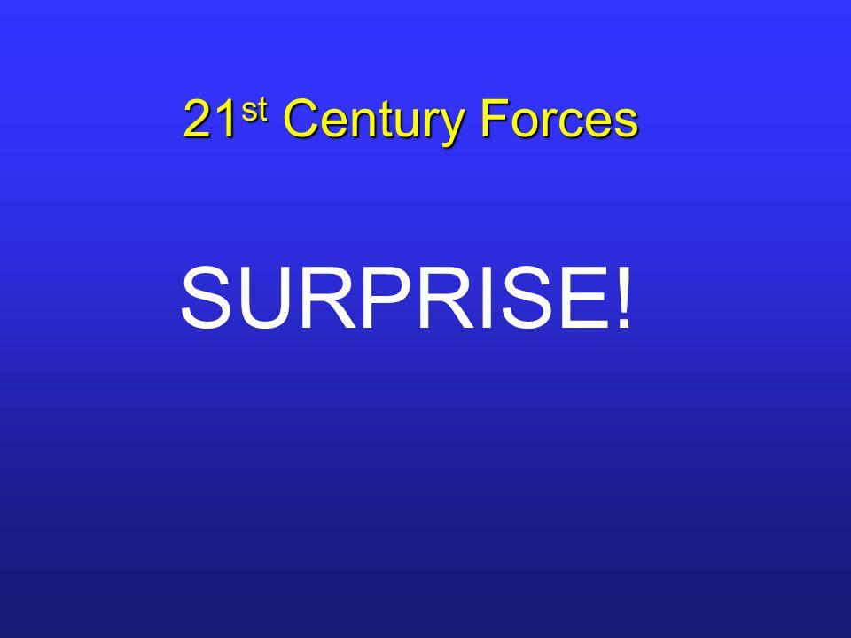 21 st Century Forces SURPRISE!
