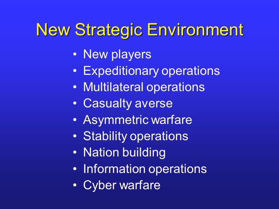 New Operating Environment More complex More uncertain More volatile More dangerous
