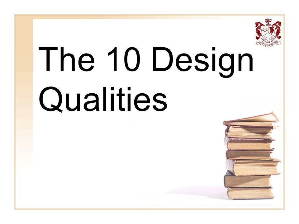 The 10 Design Qualities