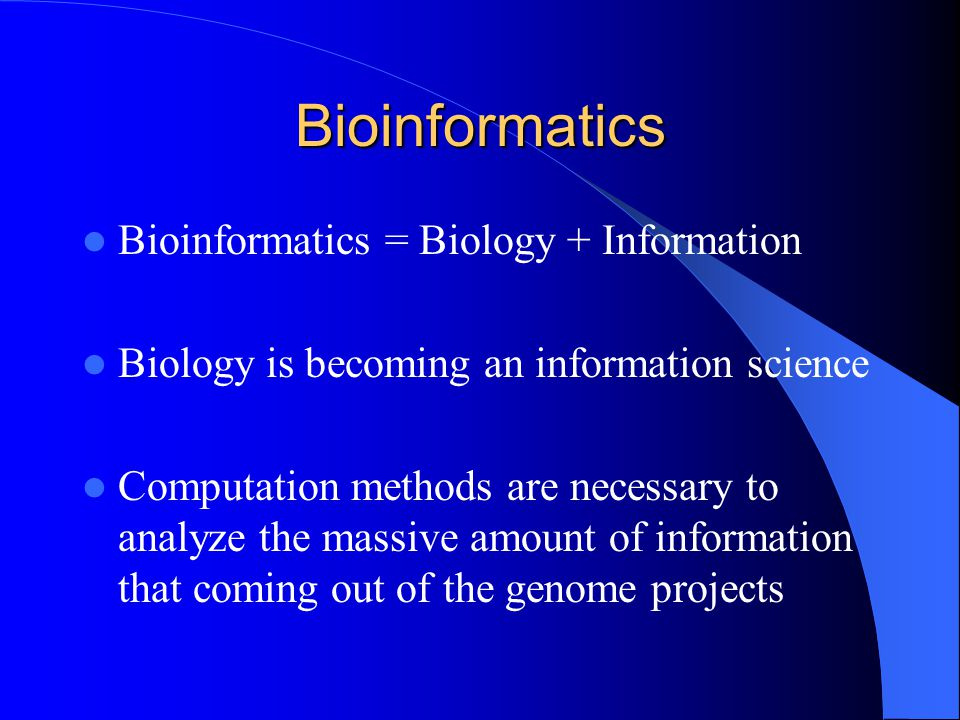 Bioinformatics is Another Revolution in Biology