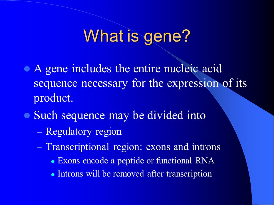 What is gene.
