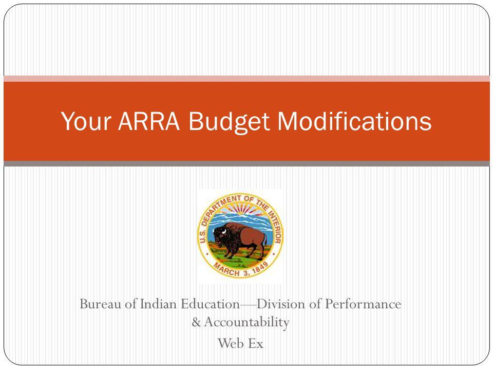 Sample Budget Modification