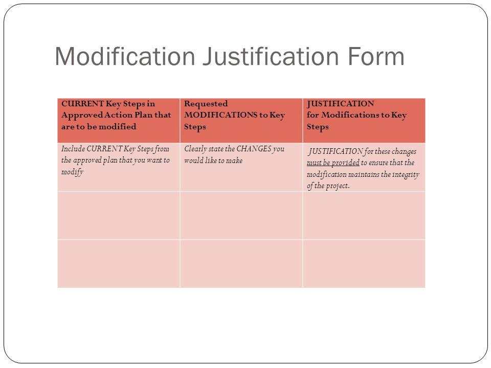Budget Justification Form