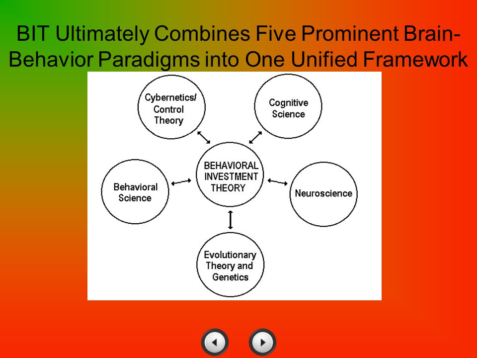 BIT Ultimately Combines Five Prominent Brain- Behavior Paradigms into One Unified Framework