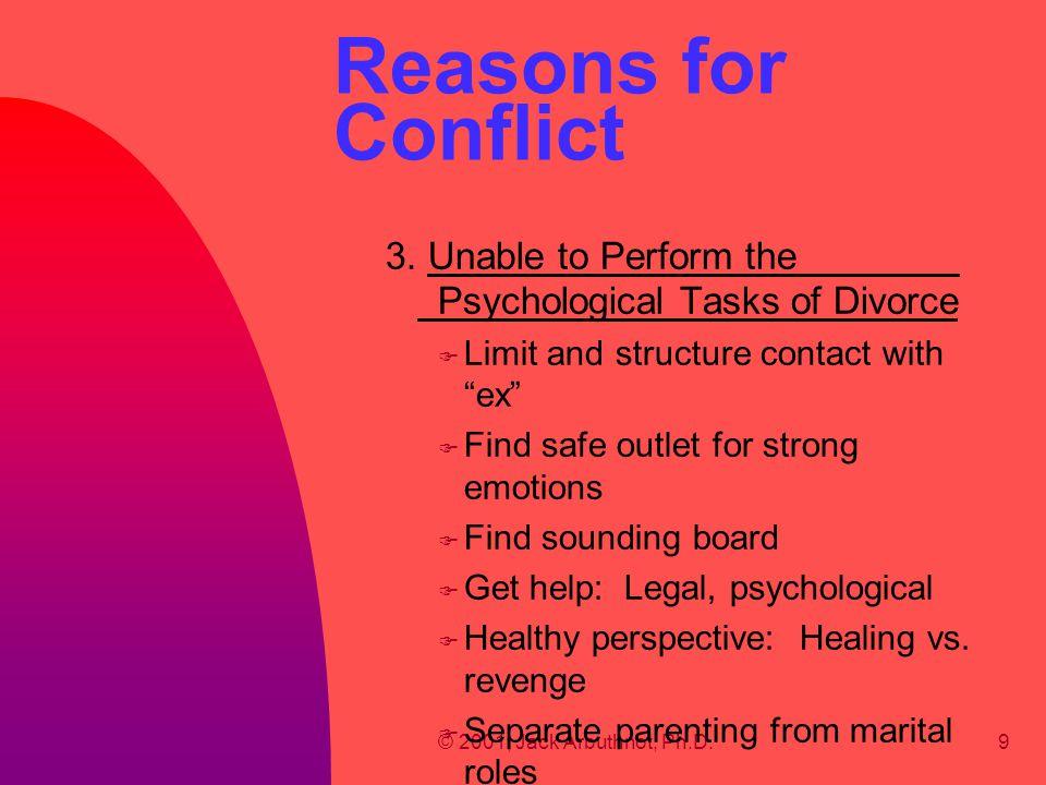 © 2001, Jack Arbuthnot, Ph.D.30 6.Increasing Child Focus, cont'd B.