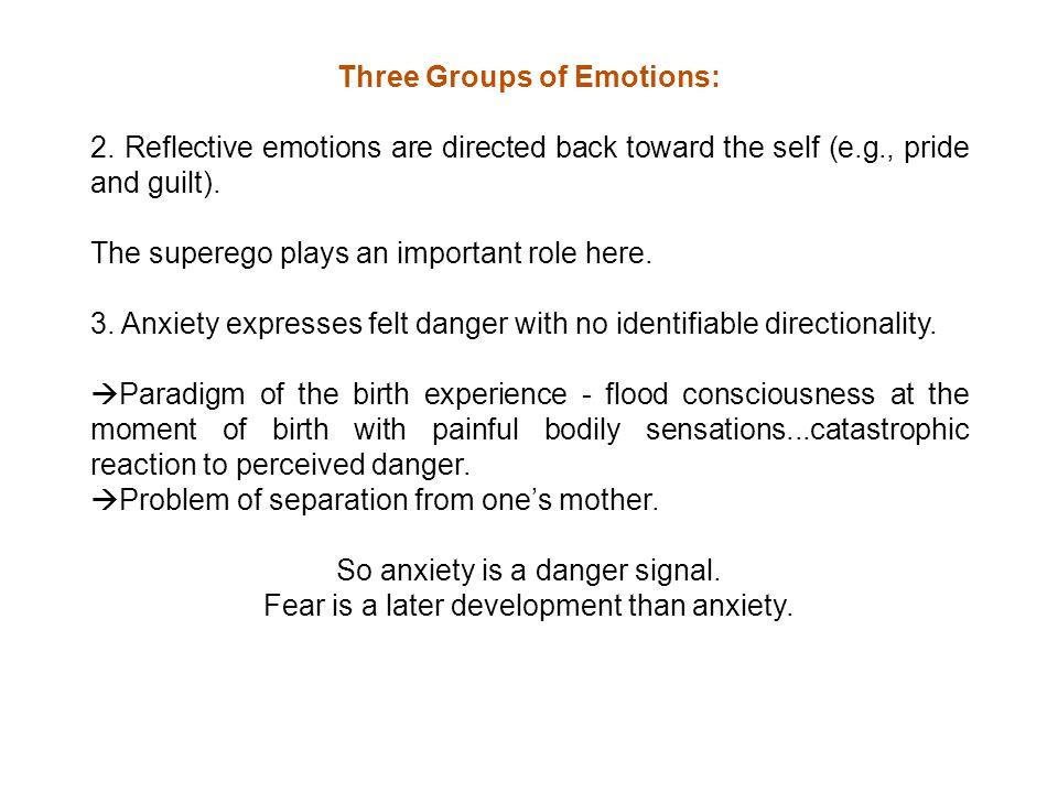 Three Groups of Emotions: 2.
