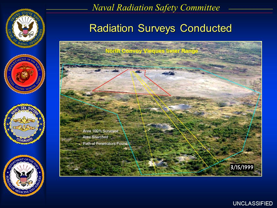 UNCLASSIFIED Naval Radiation Safety Committee Radiation Surveys Conducted