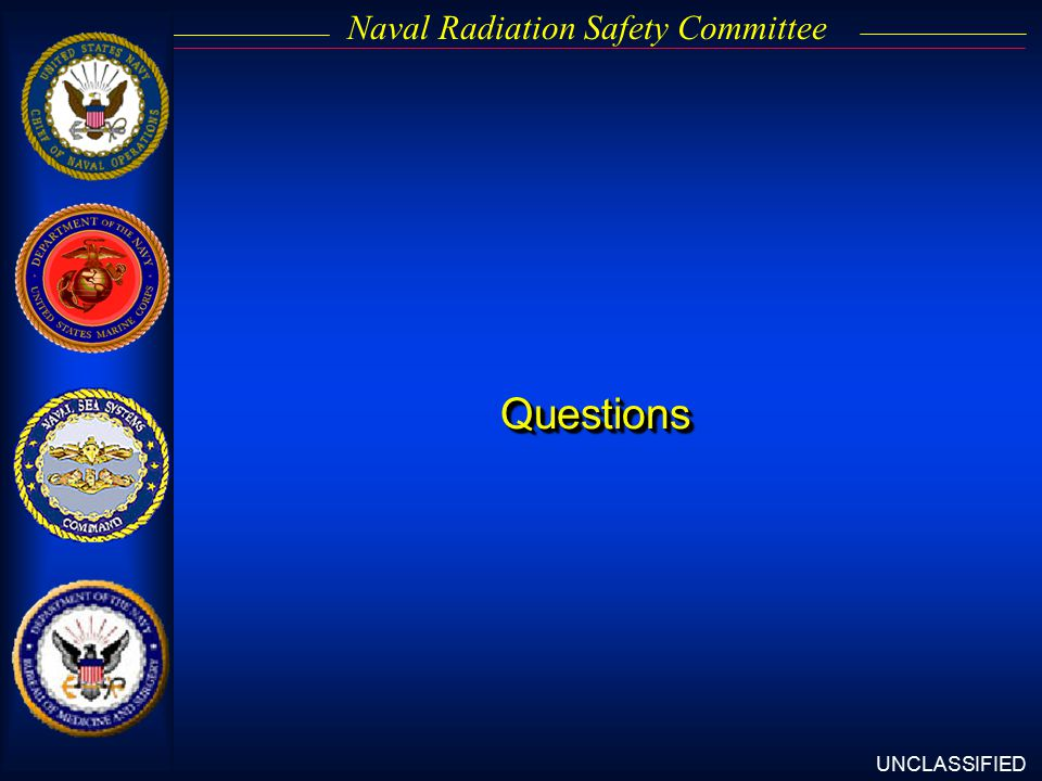 UNCLASSIFIED Naval Radiation Safety CommitteeQuestionsQuestions