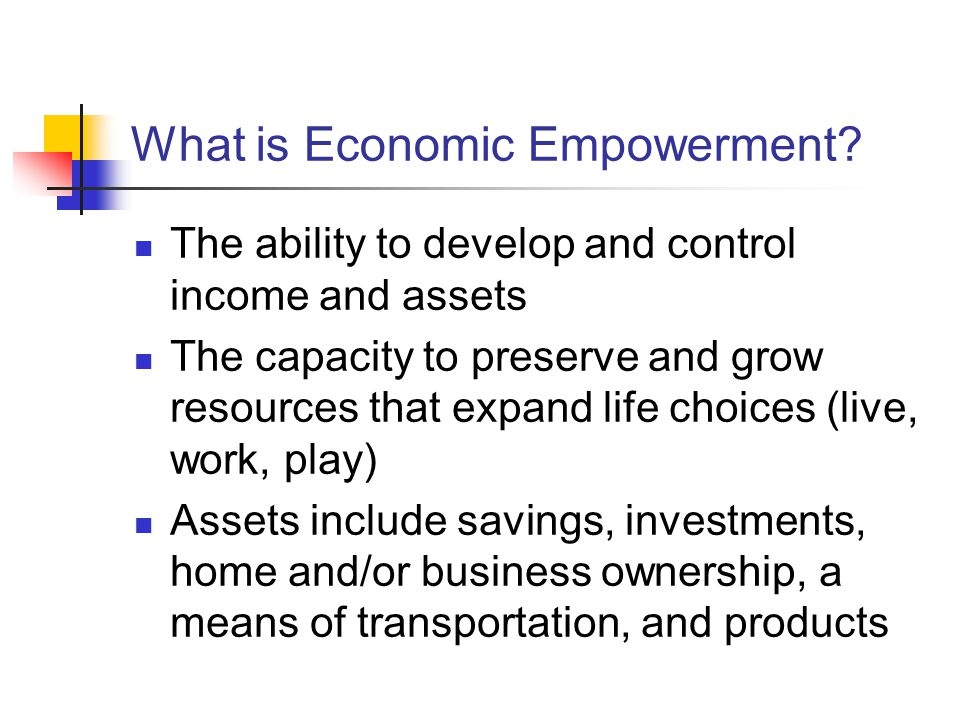 What is Economic Empowerment.