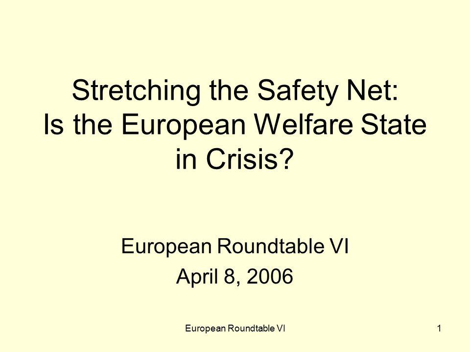European Roundtable VI2 Names on welfare … Gerhard Schröder Dominique de Villepin Kurt Biedenkopf Wolfgang Clement Tony Judt Fritz Scharpf Jürgen Habermas