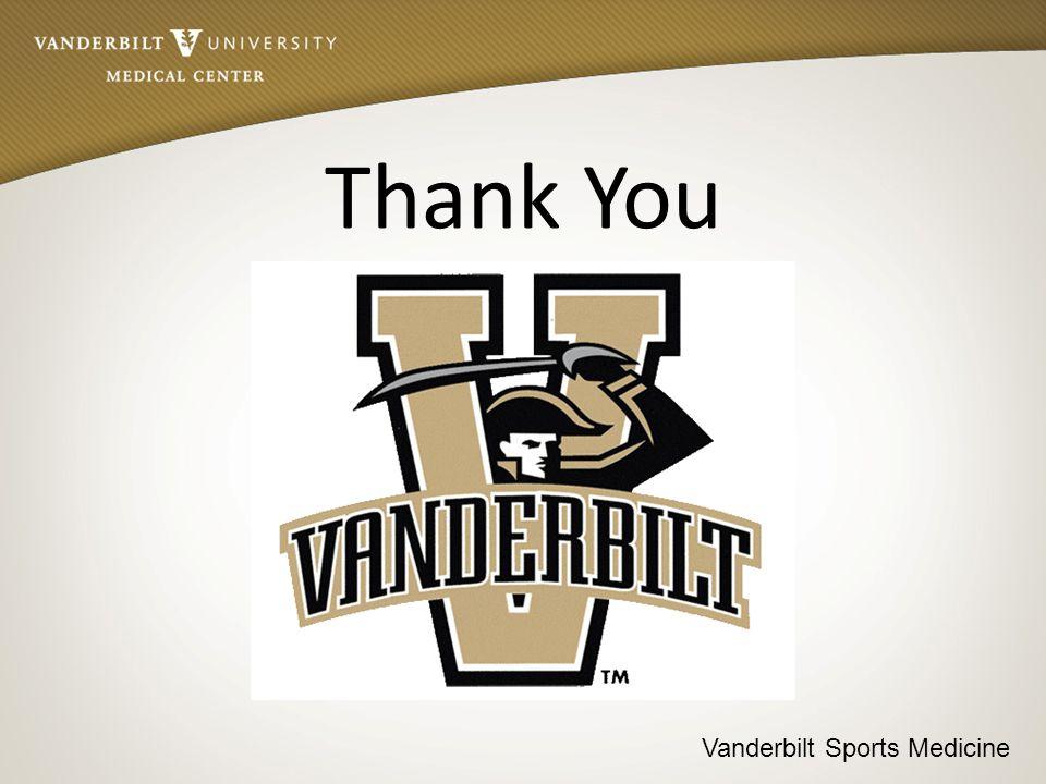 Vanderbilt Sports Medicine Thank You