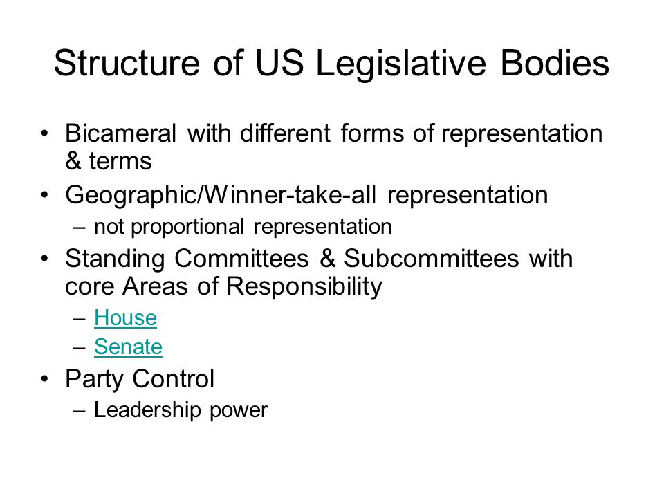 The Legislative Maze
