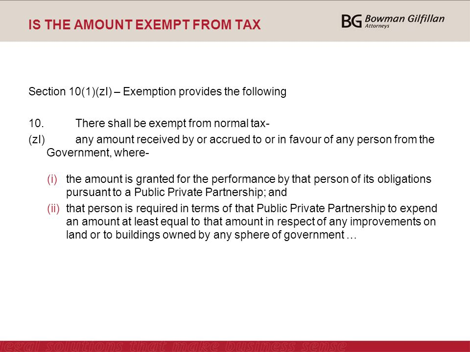 IS THE AMOUNT EXEMPT FROM TAX Section 10(1)(zI) – Exemption provides the following 10.