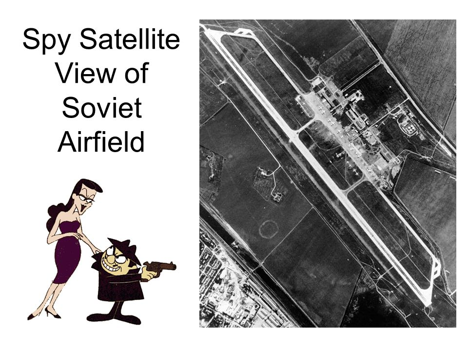 Spy Satellite View of Soviet Airfield