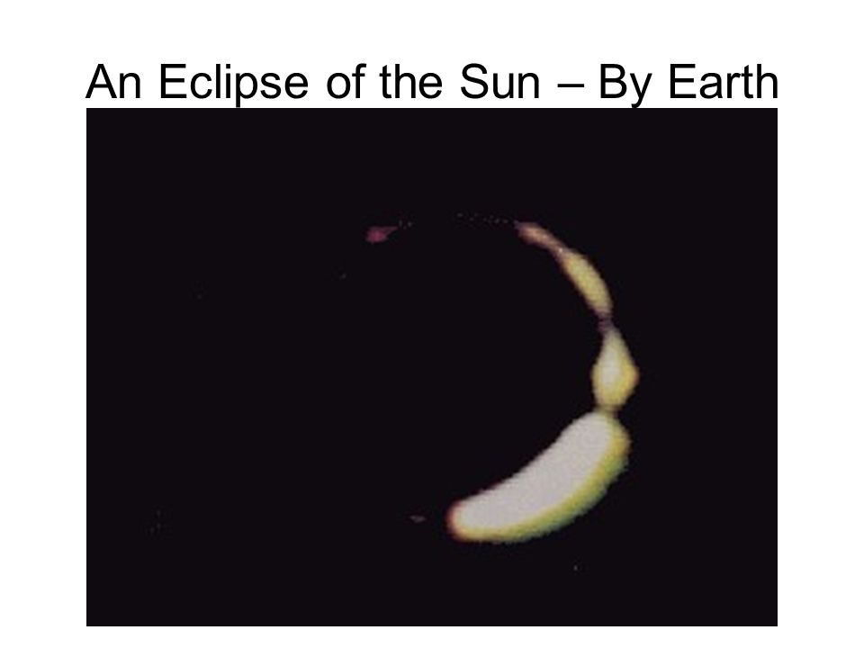 An Eclipse of the Sun – By Earth