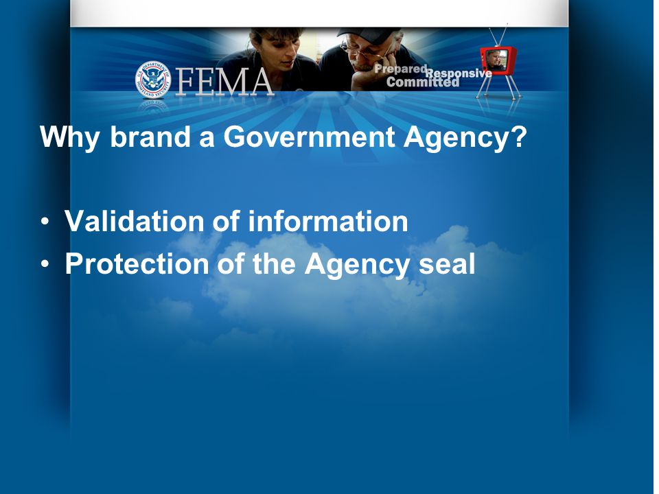 Why brand a Government Agency Validation of information Protection of the Agency seal