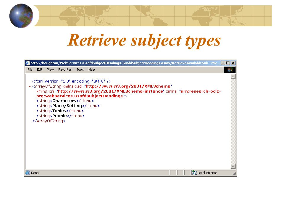 Retrieve subject types