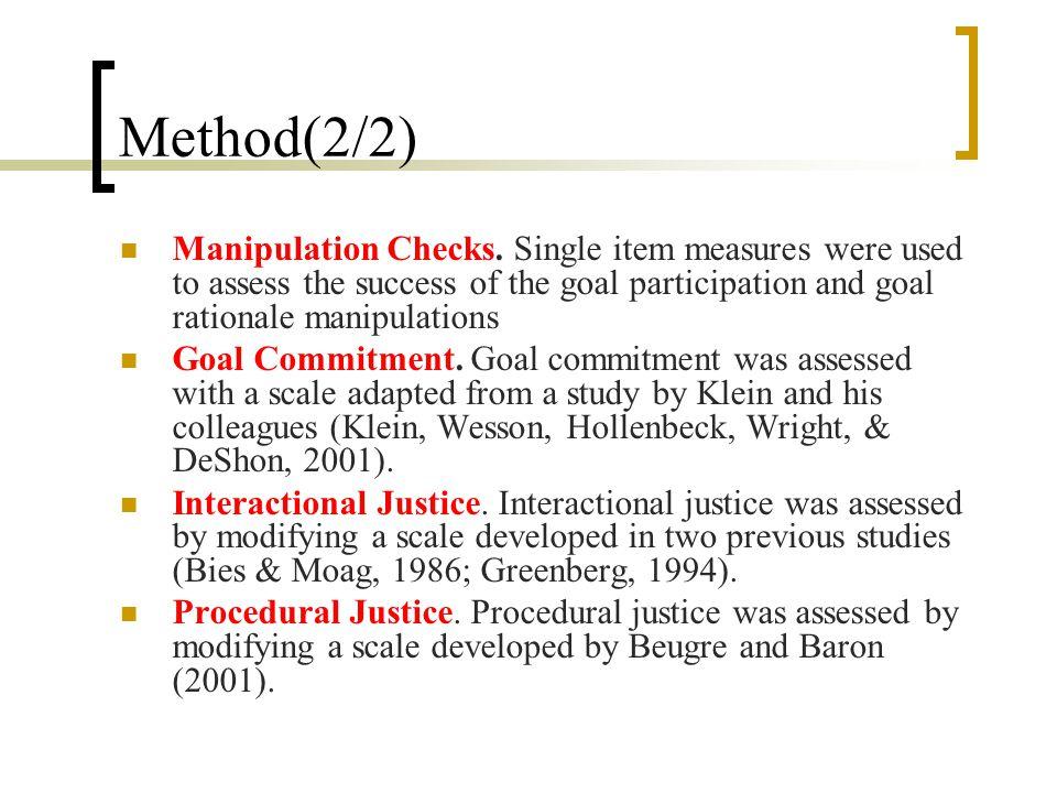 Method(2/2) Manipulation Checks.