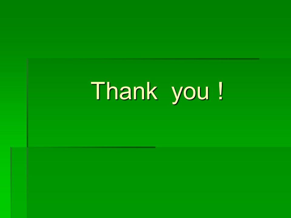 Thank you ! Thank you !