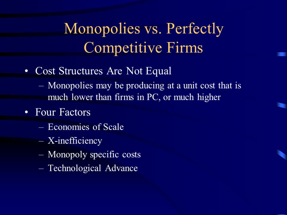 Monopolies vs.