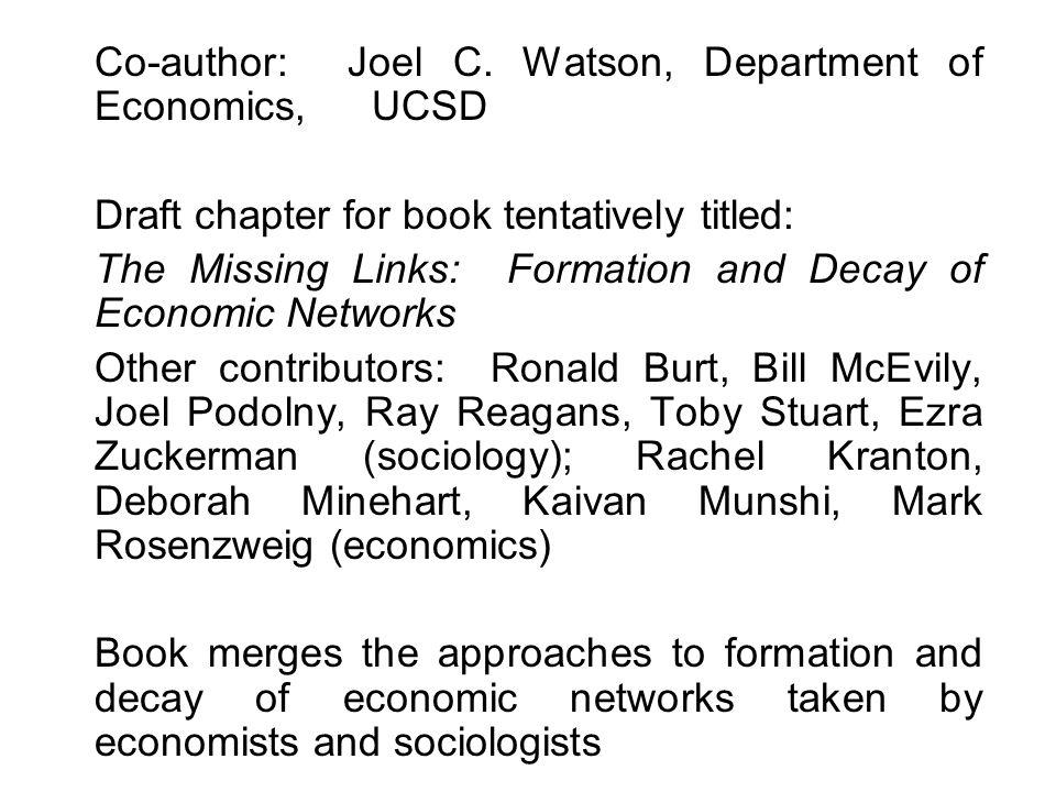 Co-author: Joel C.