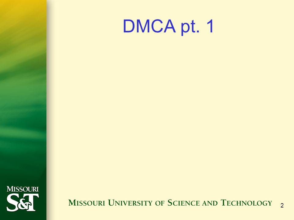 2 DMCA pt. 1