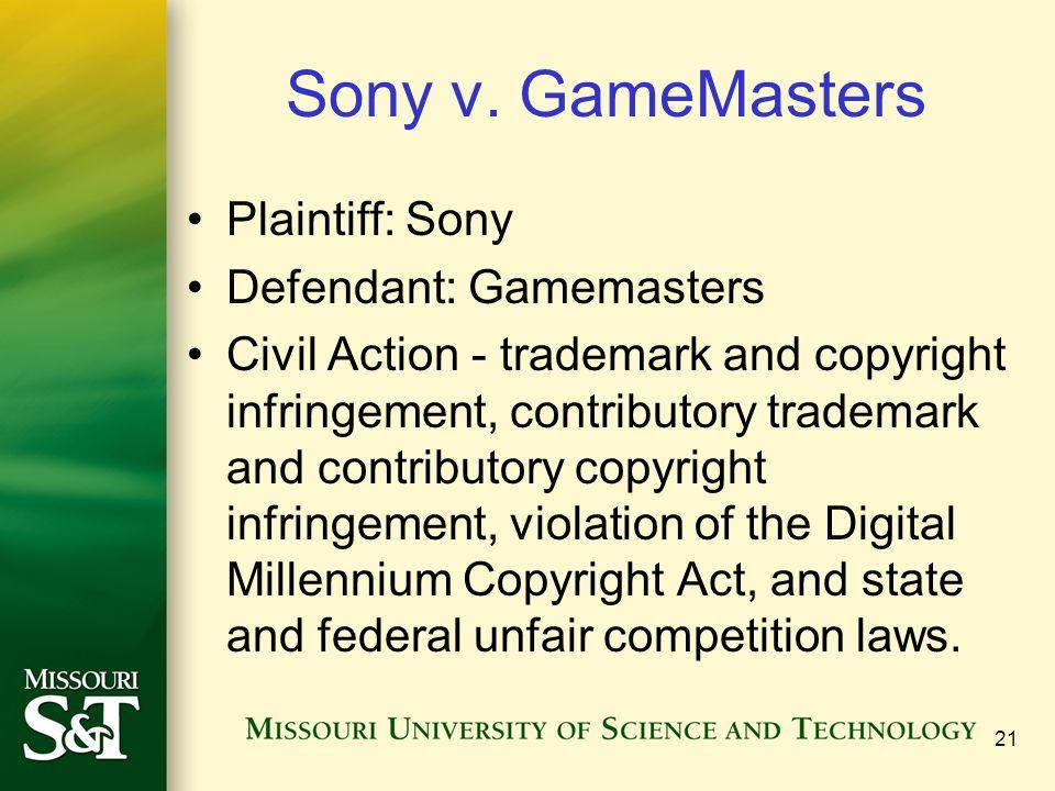21 Sony v.