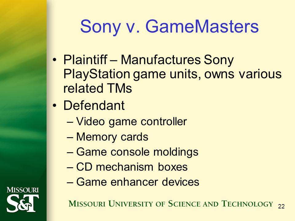 22 Sony v.