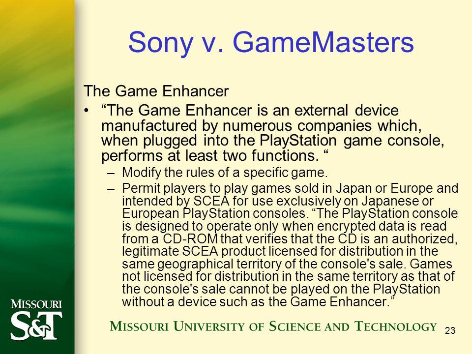 23 Sony v.