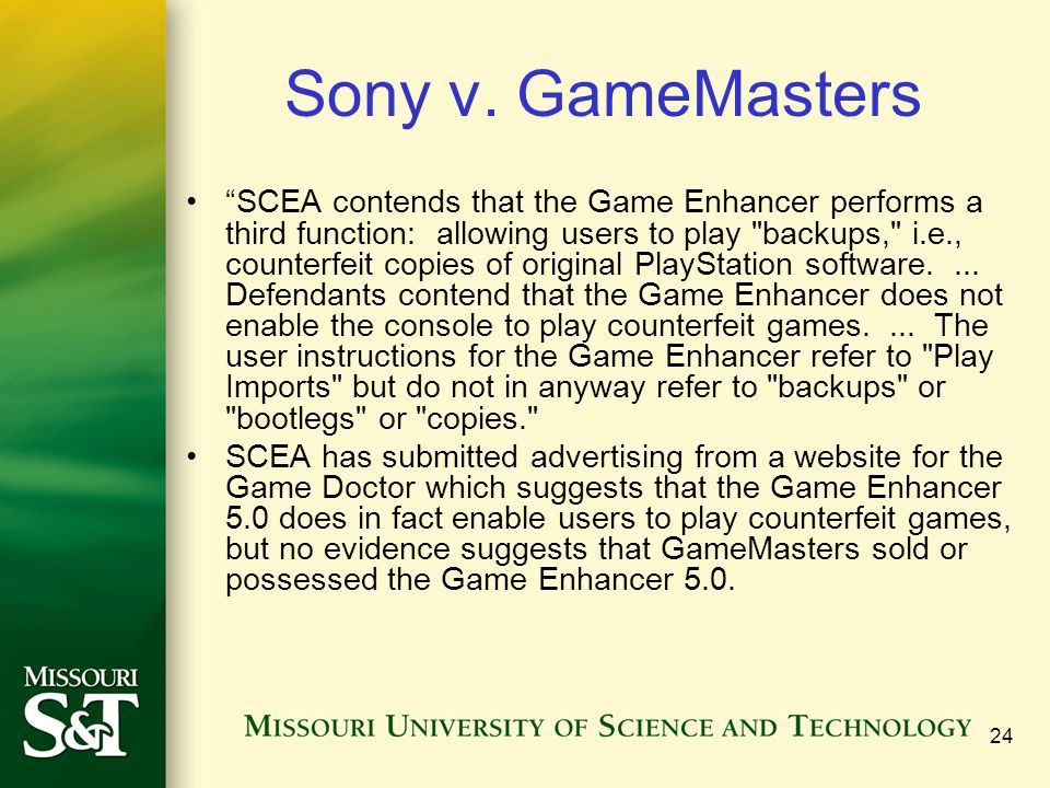 24 Sony v.