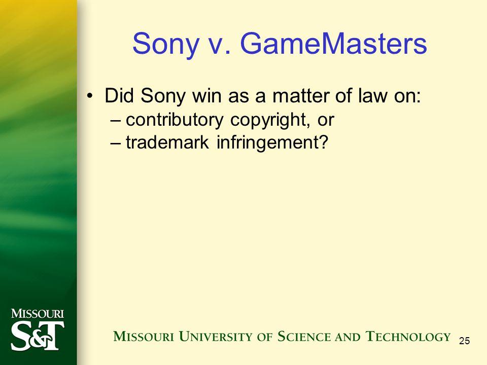 25 Sony v.