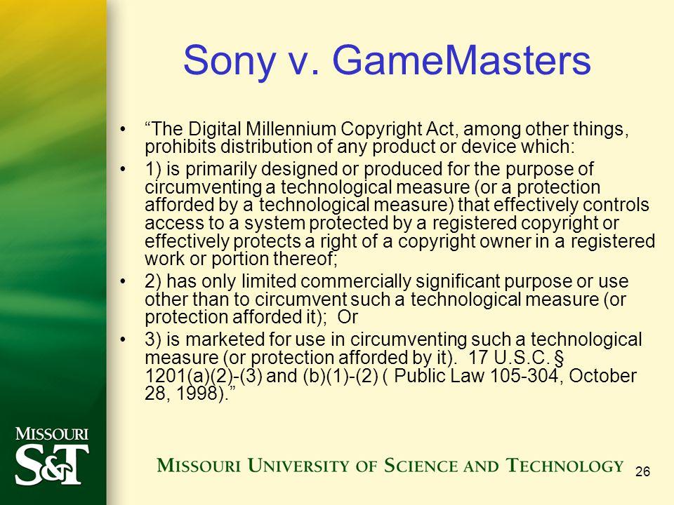 26 Sony v.