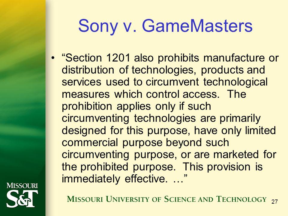 27 Sony v.