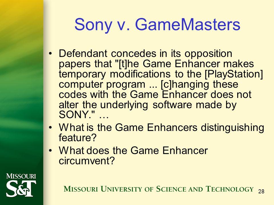 28 Sony v.