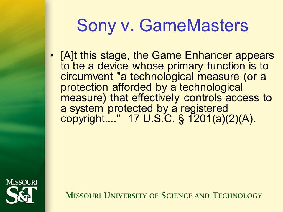 Sony v.