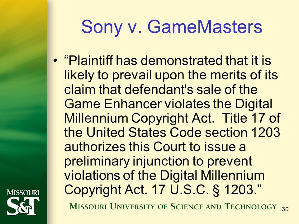 30 Sony v.