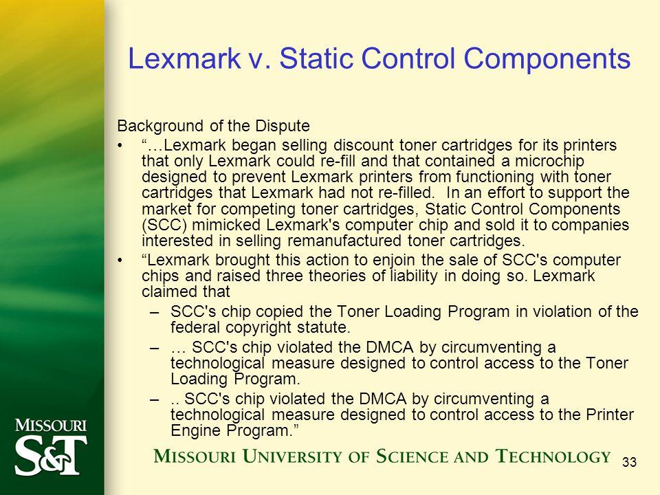 33 Lexmark v.