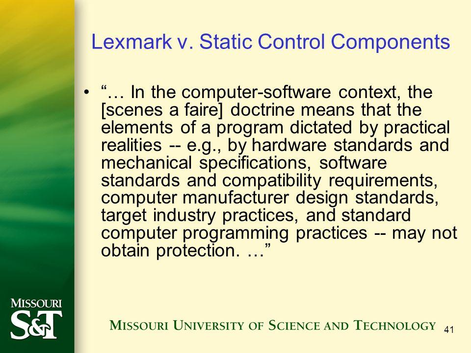 41 Lexmark v.