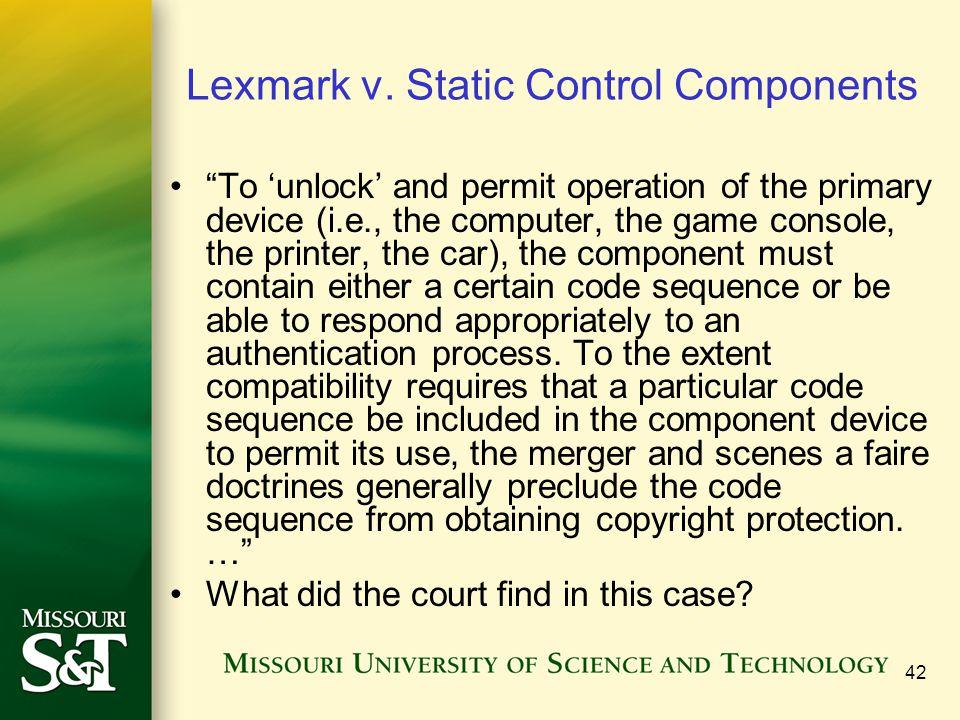 42 Lexmark v.