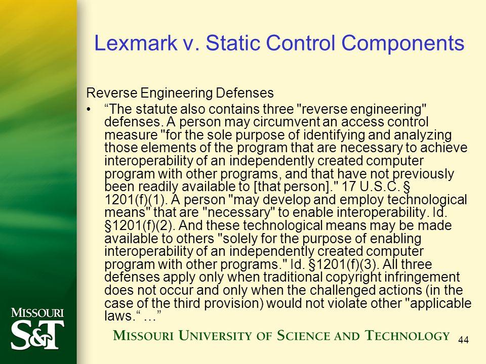 44 Lexmark v.