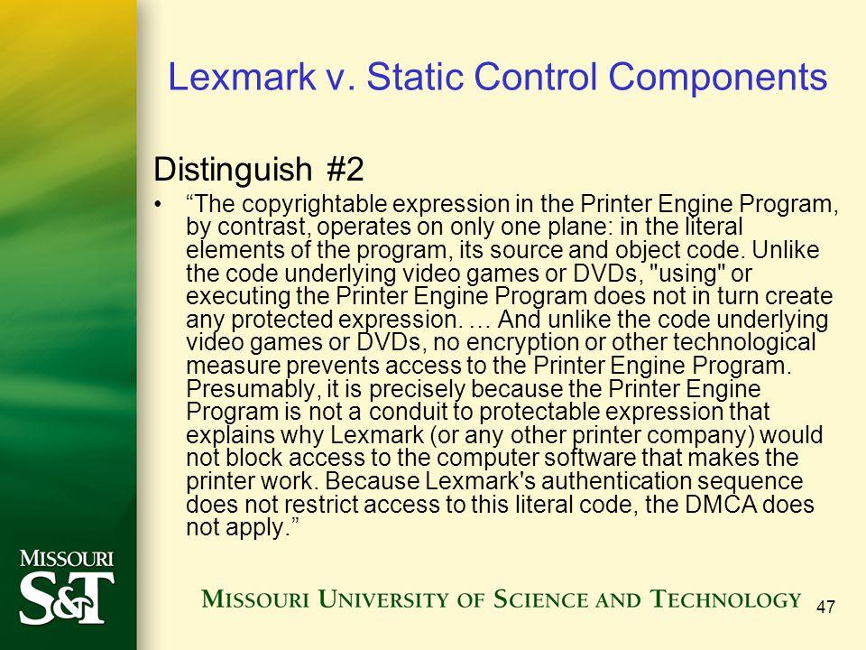 47 Lexmark v.