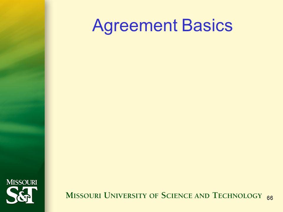 Agreement Basics 66