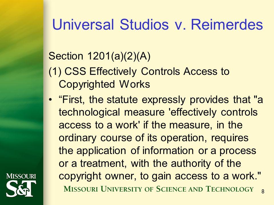 8 Universal Studios v.