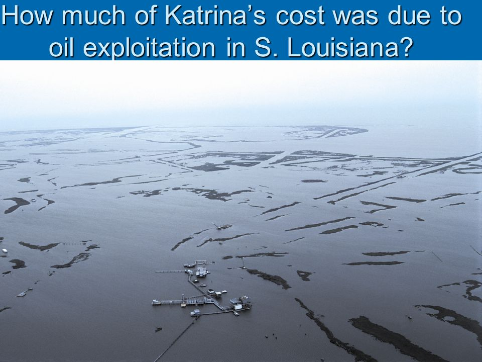 How much of Katrina's cost was due to oil exploitation in S. Louisiana