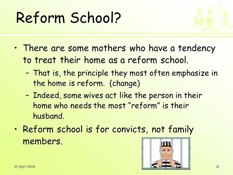 30 April 200612 Reform School.