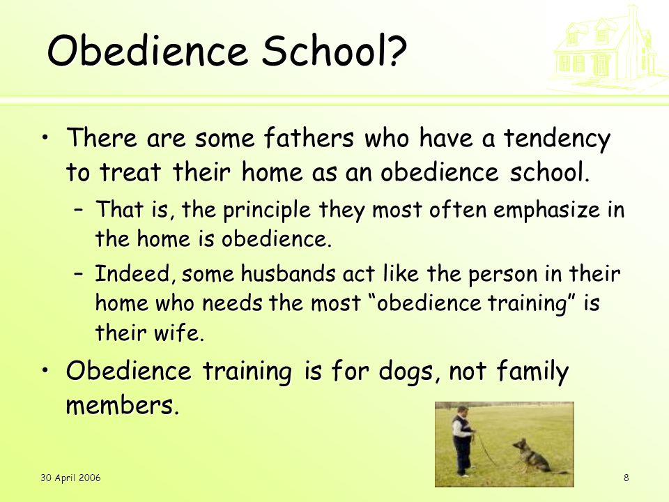 30 April 20068 Obedience School.