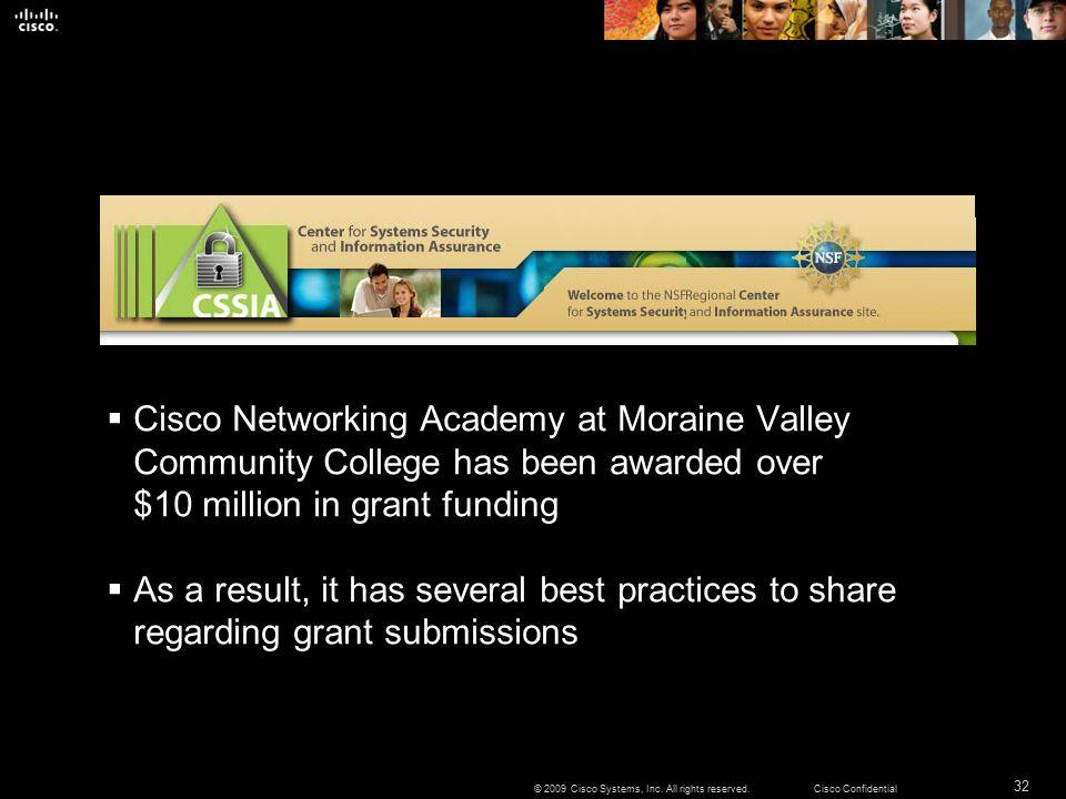 32 © 2009 Cisco Systems, Inc.